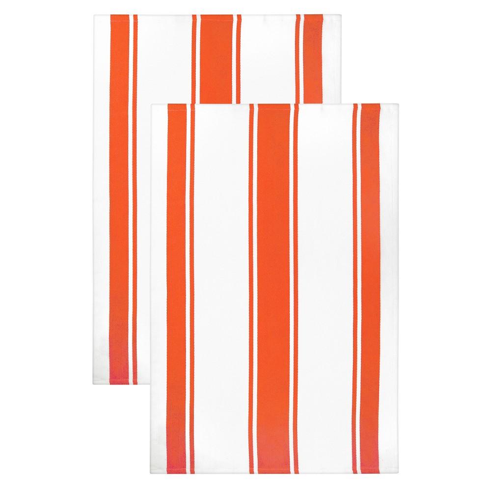 "Image of ""20""""x 30"""" 2pk Kitchen Towel Orange - MUkitchen"""