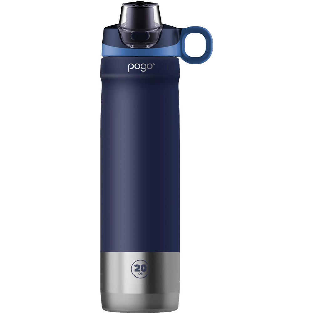 Pogo 20oz Vacuum Stainless Steel Water Bottle - Navy (Blue)