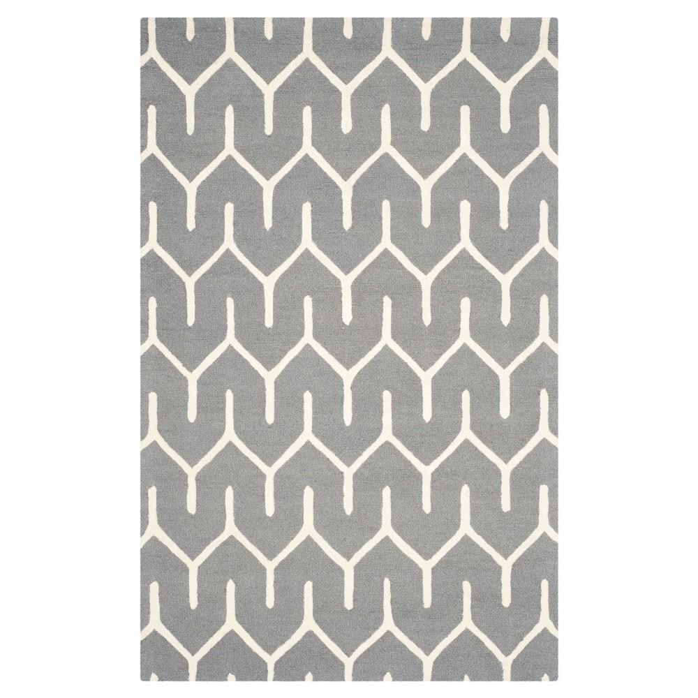 Lanie Rug - Dark Gray / Ivory (5'X8') - Safavieh, Gray White