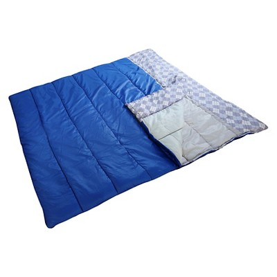Exxel Outdoors® Double Sleeping Bag Blue - 80  x 66