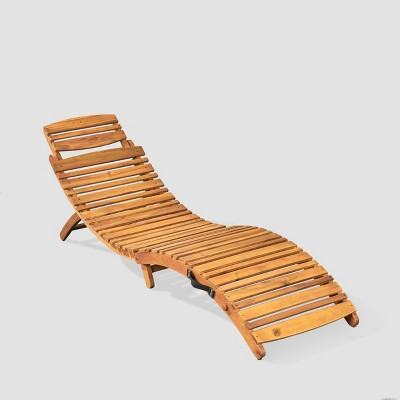 Lahaina Acacia Wood Foldable Chaise Lounge - Christopher Knight Home