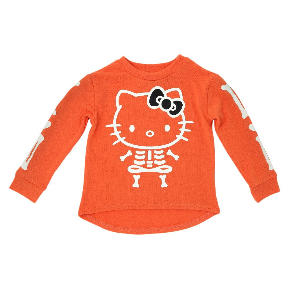 Toddler Girls' Hello Kitty Sweatshirt Orange 5T