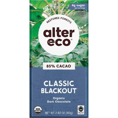 Alter Eco Chocolate Bar - Dark Chocolate Blackout - 2.82oz