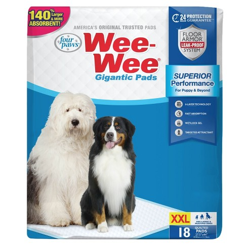 Four Paws Wee-Wee Gigantic Dog Pads - 18ct - image 1 of 4
