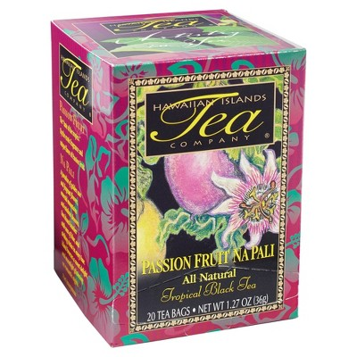 Hawaiian Islands Tea Company Passion Fruit Na Pali Black Tea - 20ct