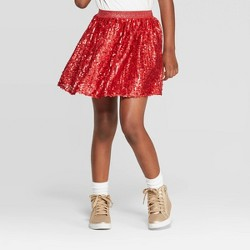Girls' Sequin Skirt - Cat & Jack™ Red