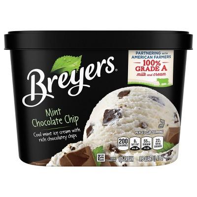 Breyers Mint Chocolate Chip Ice Cream - 48oz