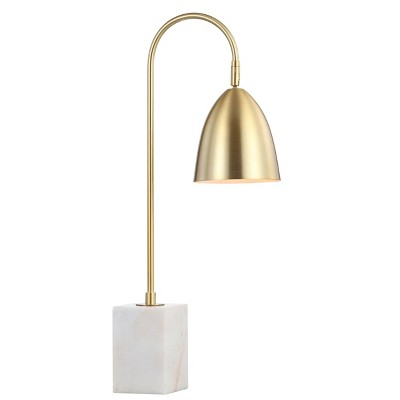 "26"" Metal Ana Arched Table Lamp (Includes LED Light Bulb) Gold - JONATHAN Y"