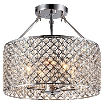 Warehouse Of Tiffany 18 X 18 X 10 Inch Chrome Ceiling Lights by Warehouse Of Tiffany