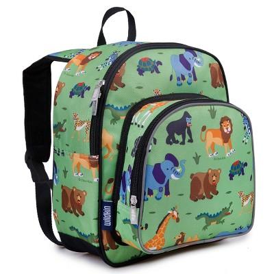 "Wildkin 12.5"" Olive Pack 'n Snack Kids' Backpack - Wild Animals"