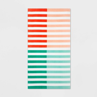 Duo Striped Warm Beach Towel - Sun Squad™