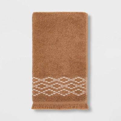 Diamond Weave Hand Towel Tan - Threshold™