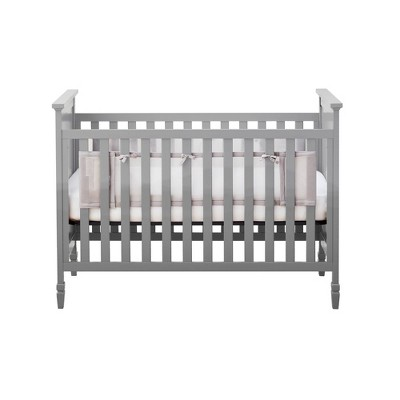 BreathableBaby Classic Breathable Solid End Mesh Crib Liner - Gray