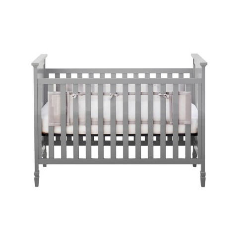 BreathableBaby Classic Breathable Solid End Mesh Crib Liner - Gray - image 1 of 4