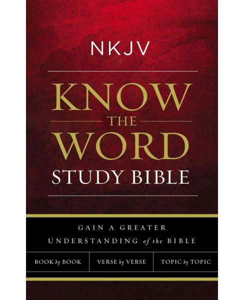 Holy Bible : New King James Version, Know The Word Study Bible, Red Letter Edition; Gain a Greater - image 1 of 1