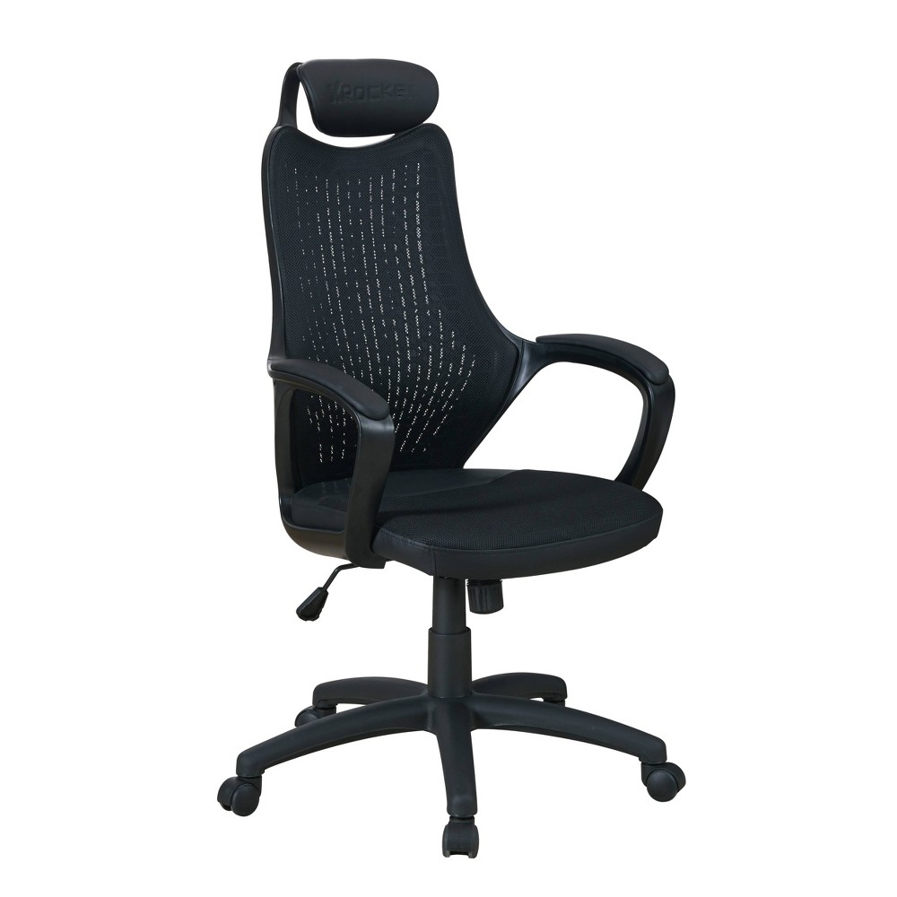 Image of Mesh PC Gaming Office Chair Black - X Rocker