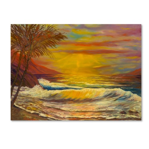 "Trademark Fine Art 24"" x 18"" Manor Shadian 'A Tropical Lagoon' Canvas Art - image 1 of 3"