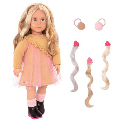 """Our Generation 18"""" Hair Play Doll with Clip-in Hair Accessories - Bianca"""