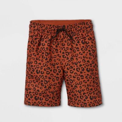 Boys' Animal Print Swim Trunks - Cat & Jack™ Brown