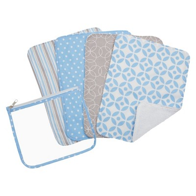 Trend Lab 5pc Burp Cloth & Pouch Gift Set - Lauren
