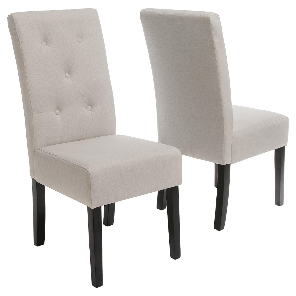 Set of 2 Taylor Fabric Dining Chair Natural Plain - Christopher Knight Home was $199.99 now $129.99 (35.0% off)