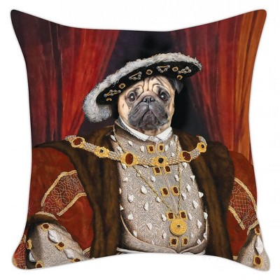 """Accoutrements Henry the Pug 18""""X 18"""" Pillow Cover"""