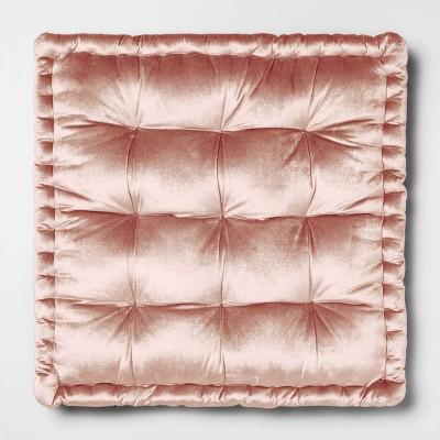 Velvet Oversize Square Floor Cushion Pink - Opalhouse™