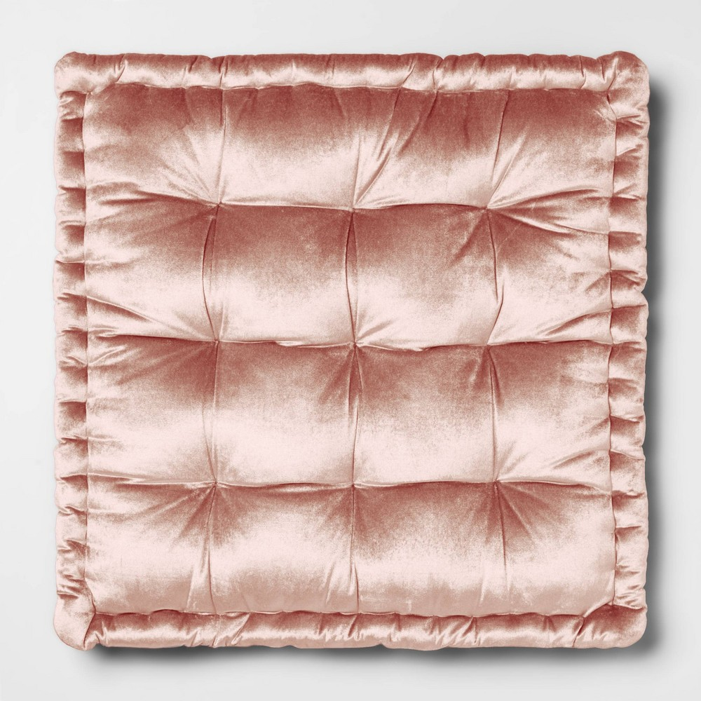 Velvet Oversize Square Floor Cushion Pink - Opalhouse