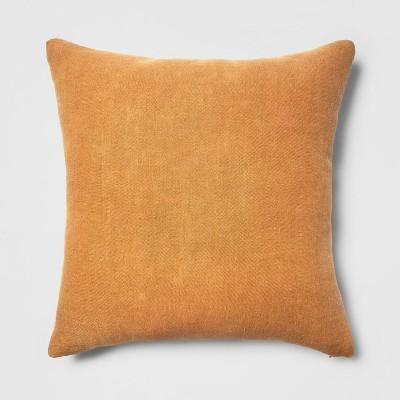 Oversized Linen Square Throw Pillow Rust - Threshold™