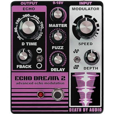 DEATH BY AUDIO Echo Dream 2 Delay Effects Pedal Purple