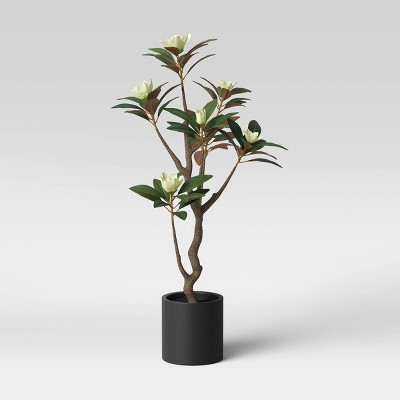 Faux Magnolia Flower Black/Green - Threshold™