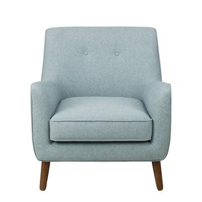 Modern Tufted Accent Chair Light Blue   Homepop
