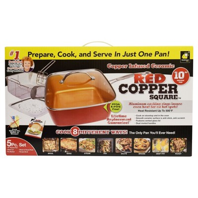 As Seen on TV® Copper Cookware 5pc Set - Red