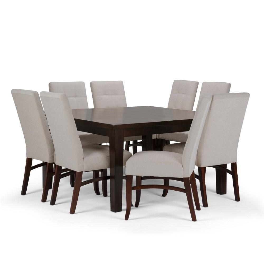 Hawthorne Solid Hardwood 9pc Dining Set Platinum - Wyndenhall, Seamist