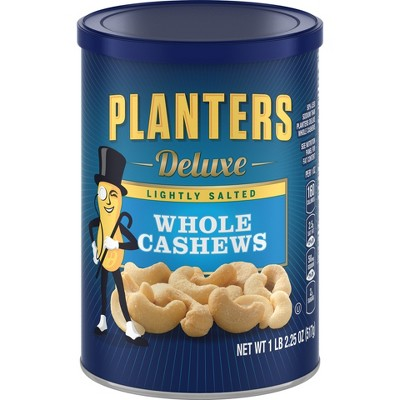Nuts & Seeds: Planters Deluxe Whole Cashews Lightly Salted