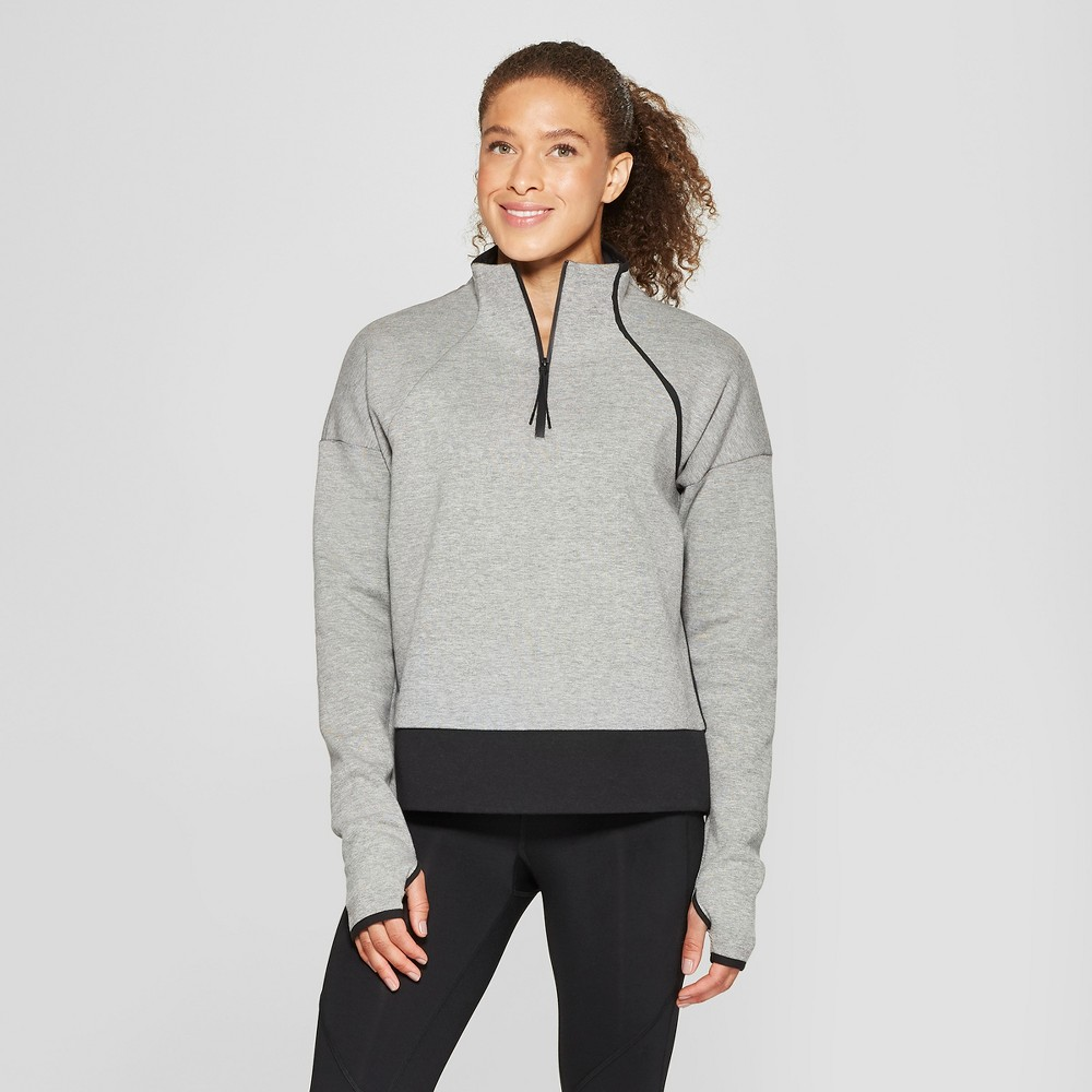 Women's Victory Fleece Pullover - C9 Champion Grey Heather/Black L