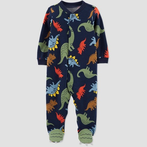 Baby Boys' Sleep 'N Play Dino 1pc Pajama - Just One You® made by carter's Navy - image 1 of 1
