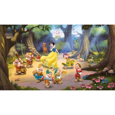6'x10.5' Disney Princess Snow White and The Seven Dwarfs Mural Ultra Strippable - RoomMates