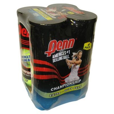 Penn Championship Extra Duty Tennis Balls 4-Can Pack