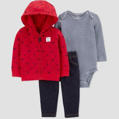 Baby Boys' North Transportation Top & Bottom Set - Just One You® made by carter's Red 9M