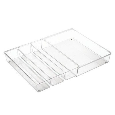 mDesign Expandable Kitchen Drawer Organizer Tray for Utensils