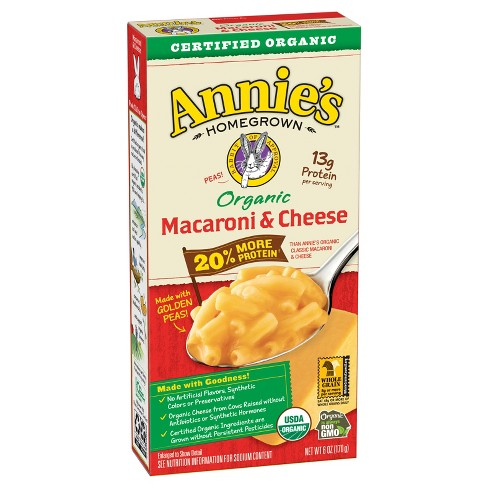 Annie's® Homegrown Organic Macaroni & Cheese 20% More Protein - 6oz - image 1 of 3