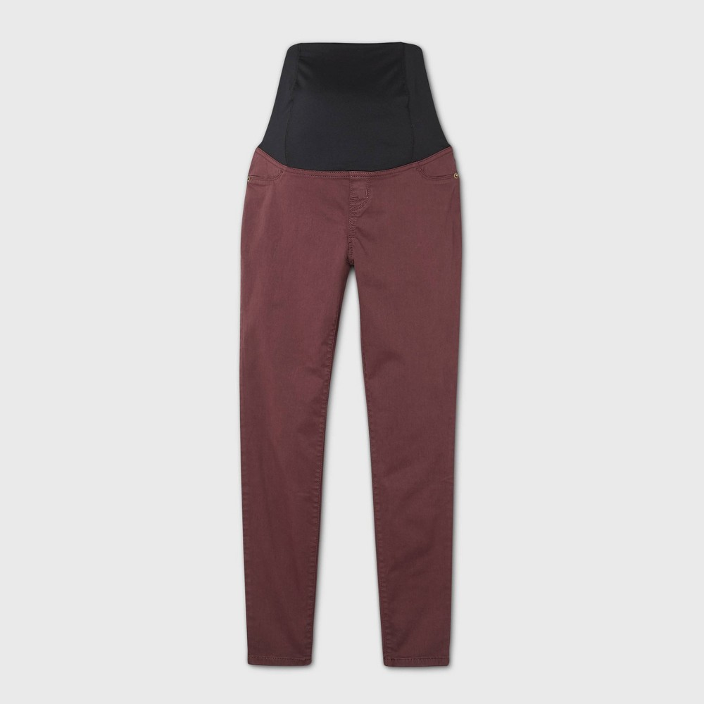 Maternity Crossover Panel Skinny Jeans Isabel Maternity By Ingrid 38 Isabel 8482 Burgundy 2