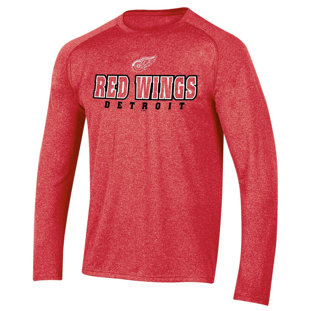 Detroit Red Wings Men's Goal Scorer Long Sleeve Performance T-Shirt M, Multicolored