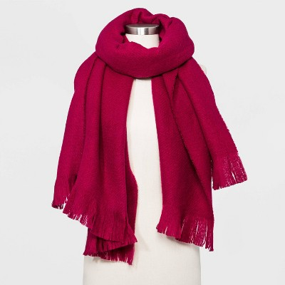 Women's Solid Blanket Scarf - A New Day™ Pink