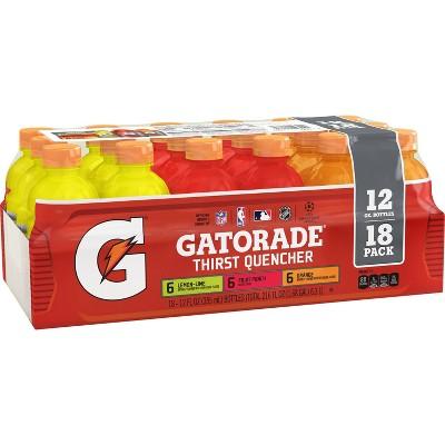 Gatorade Mixed Flavors Sports Drink - 18pk/12 fl oz Bottles