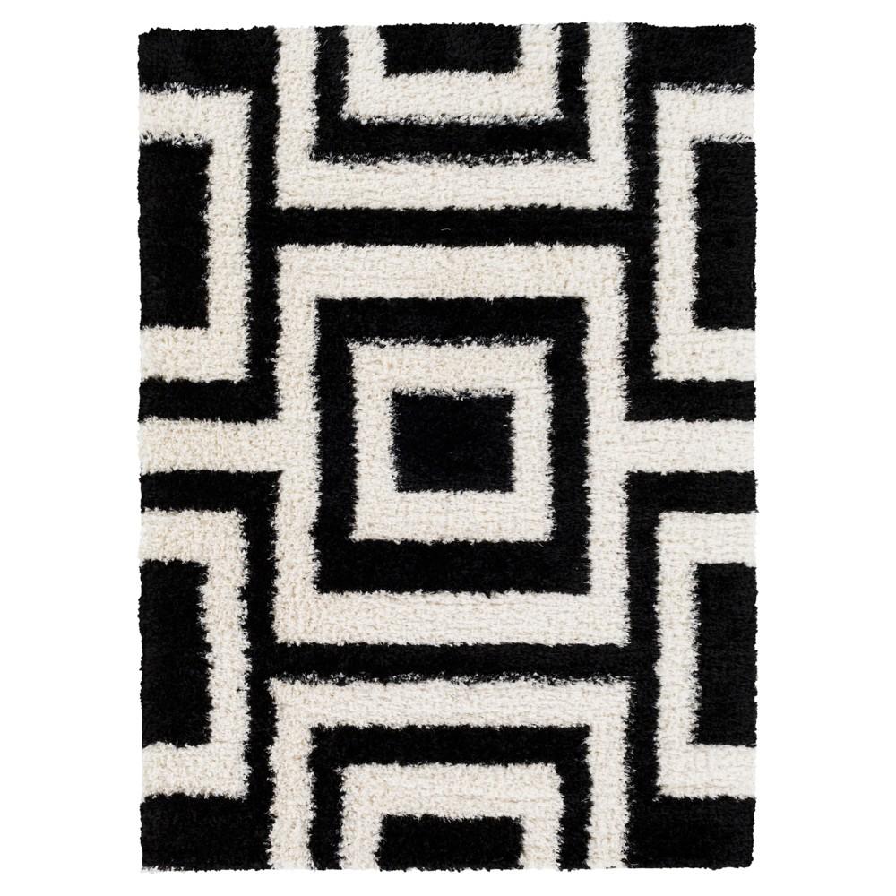 Black Abstract Tufted Area Rug - (8'X11') - Surya