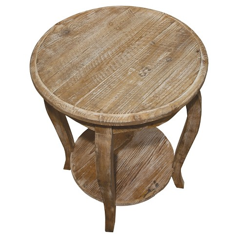 Round End Table Driftwood Brown Alaterre Furniture Target