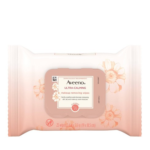 Aveeno Ultra-Calming Cleansing Makeup Removing Wipes - 25ct - image 1 of 4