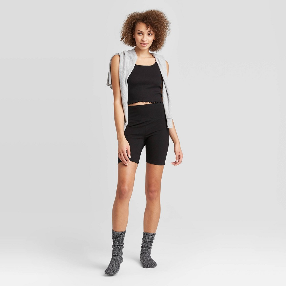 Image of Women's Bike Shorts - Colsie Black L, Women's, Size: Large